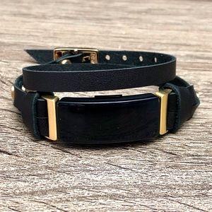 Fitbit Inspire HR Leather Strap Bracelet Gold Band